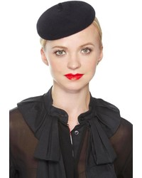 Leah C Couture Millinery Mini Beret Black