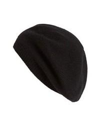Nordstrom Cashmere Beret Black One Size