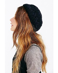 Urban Outfitters Mixed Stitch Eyelash Beret