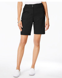Karen Scott Ribbed Waistband Bermuda Shorts Only At Macys