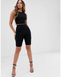 Vesper Legging Short In Black Co Ord