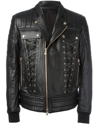 Balmain Lace Up Biker Jacket