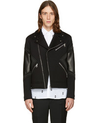 Neil Barrett Black Panelled Biker Jacket