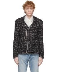 Faith Connexion Black Perfecto Tweed Jacket