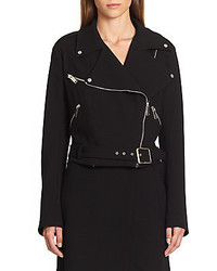 Christopher Kane Wool Crepe Biker Jacket