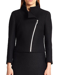 Courreges Asymmetrical Zip Wool Jacket