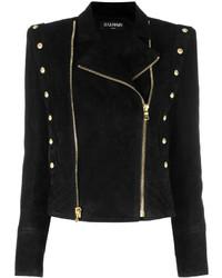 Balmain Double Zip Biker Jacket