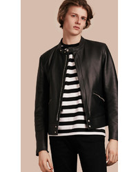 Burberry Lightweight Lambskin Biker Jacket