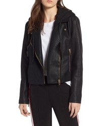 Meant to be moto jacket with removable hood medium 8711480