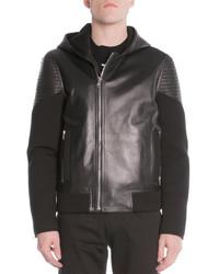 Givenchy Mixed Media Moto Jacket Black