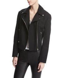 Helmut Lang Moto Biker Cotton Jacket Black