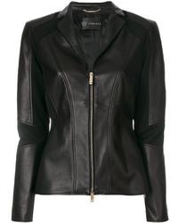 Versace Panelled Biker Jacket
