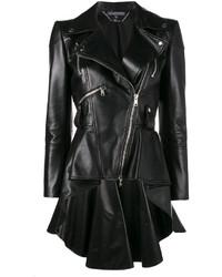 Alexander McQueen Peplum Waist Biker Jacket