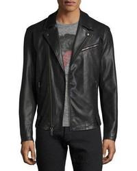 John Varvatos Star Usa Coated Slim Moto Jacket Black