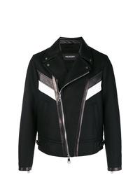 Neil Barrett Stripe Front Biker Jacket