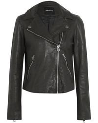 Madewell Textured Leather Biker Jacket Black