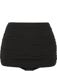 Norma Kamali Bill Ruched Bikini Briefs Black