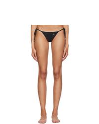 Dolce And Gabbana Black String Bikini Bottom