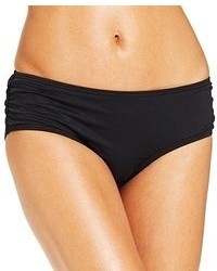 DKNY Solid Ruched Bikini Bottom Swimsuit