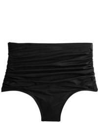 High waisted ruched bikini bottom medium 1197930
