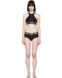 Fendi Black Logo Bikini