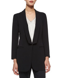 Atm Soft Shawl Collar One Button Blazer