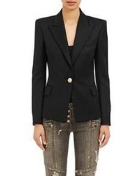 Balmain Twill Single Button Blazer
