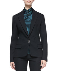 Jason Wu Bi Stretch Wool Lapel Jacket Black
