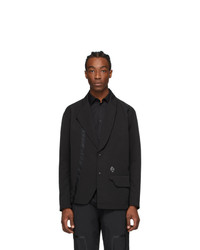 A-Cold-Wall* Black Asymmetric Blazer