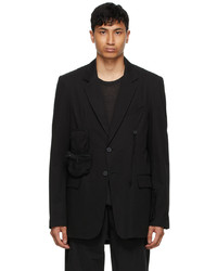 Hyein Seo Black Detachable Pocket Blazer