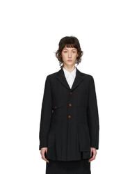 Comme Des Garcons Comme Des Garcons Black Double Cloth Blazer