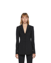 Alexander Wang Black Fitted Pointed Collar Shirt