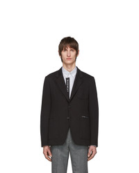 Givenchy Black Jersey Notched Lapel Blazer