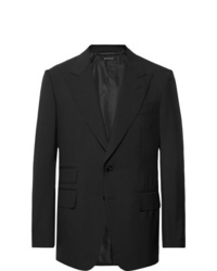 Tom Ford Black Shelton Slim Fit Wool Suit Jacket