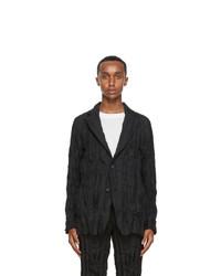 Issey Miyake Men Black Twist Basic Blazer