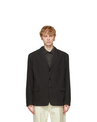 Lemaire Black Ventile Soft Single Breasted Blazer