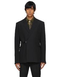 Givenchy Black Wool Padlock Blazer