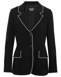Moschino Boutique Crepe Blazer Black