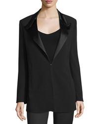 CNC Costume National Costume National Peaked Lapel Slim Fit Jacket Black