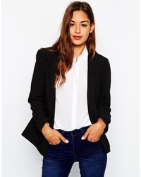 Asos Collection Blazer In Crepe With Lapel Detail