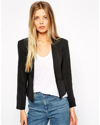 Asos Collection Cropped Blazer With Slim Lapel