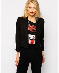 Love Moschino Cropped Double Breasted Blazer