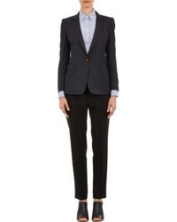Band Of Outsiders Cropped Double Breasted Jacket Black