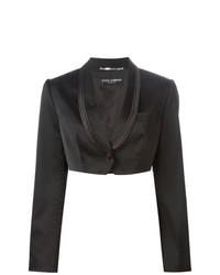 Dolce & Gabbana Vintage Cropped Tuxedo Blazer