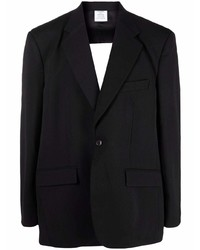 Vetements Cut Out Single Breasted Blazer