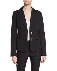 Derek Lam 10 Crosby Stretch Two Button Blazer Black