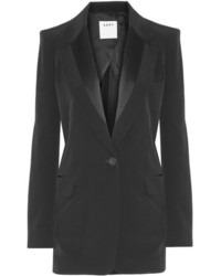 DKNY Satin Trimmed Faille Blazer Black