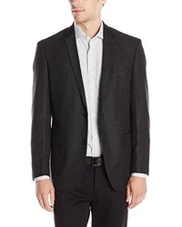 DKNY Solid 2 Button Side Vent Slim Sport Coat