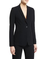 Elie Tahari Wendy Crepe One Button Jacket