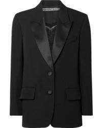 Alexander Wang Embellished Silk Med Wool Blazer